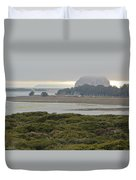 Morro Rock From The Elfin Forest Duvet Cover
