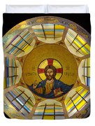 Mosaic Christ Duvet Cover