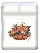 Mosaic Fruits Duvet Cover