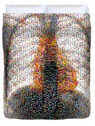 Mosaic Of Chest X-ray Duvet Cover