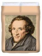 Moses Mendelssohn, German Philosopher Duvet Cover