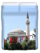 Mosque And Flags Duvet Cover