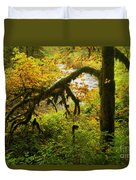 Moss In The Forest Duvet Cover