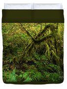 Moss In The Rainforest Duvet Cover