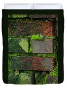 Mossy Brick Wall Duvet Cover