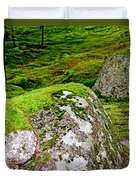 Mossy Rock Garden Duvet Cover