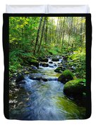 Mossy Rocks And Water   Duvet Cover