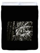 Mossy Trees In Black And White 2 Duvet Cover