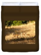 Mother And Twins Duvet Cover