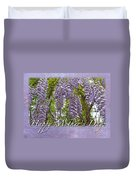 Mother's Day Card - Purple Wisteria Duvet Cover