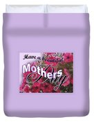 Mothers Day Pink Petunias Duvet Cover