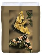Moths Duvet Cover