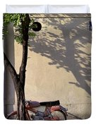 Motorcycle And Tree. Belgrade. Serbia Duvet Cover