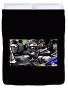 Motorcycles - Harleys And Hondas Duvet Cover
