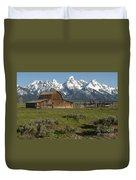 Moulton Barn - Grand Tetons Duvet Cover