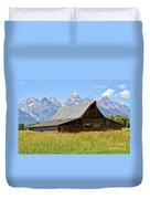 Moulton Barn On Mormon Row Duvet Cover