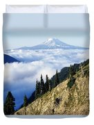 Mount Adams Above Cloud-filled Valley Duvet Cover
