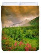 Mount Amery And Fireweed Duvet Cover