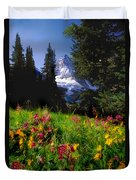 Mount Assiniboine Duvet Cover