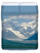 Mount Deborah And Hess Mountain Duvet Cover