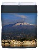 Mount Etna Duvet Cover