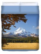 Mount Hood And Autumn Colours In Hood Duvet Cover