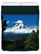 Mount Hood Framed By Trees, Oregon, Usa Duvet Cover