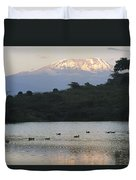 Mount Kilimanjaro Rises Above One Duvet Cover