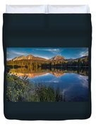Mount Lassen Reflecting 2 Duvet Cover