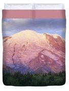 Mount Rainier At Sunrise Mount Rainier Duvet Cover by Tim Fitzharris