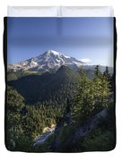 Mount Rainier Surrounded By Forest Duvet Cover