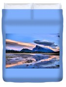 Mount Rundle In The Evening Duvet Cover