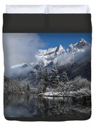 Mount Siguniang Is An Area Duvet Cover
