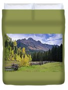 Mount Sneffels And Fence Duvet Cover