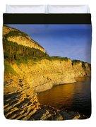 Mount St Alban Cliffs At Sunset Duvet Cover