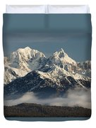 Mount Tasman And Mount Cook Southern Duvet Cover by Colin Monteath