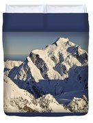 Mount Tutoko At Dawn Hollyford Valley Duvet Cover by Colin Monteath