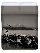 Mount Washington View From White Rock Bc Duvet Cover