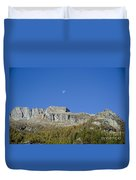 Mountain And Moon Duvet Cover