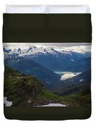 Mountain Flock Duvet Cover by Mike Reid