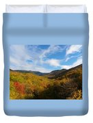 Mountain Foliage And Blue Skies Duvet Cover