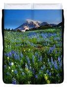 Mountain Garden Duvet Cover