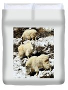 Mountain Goat Trio Duvet Cover
