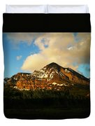 Mountain In The Morning Duvet Cover
