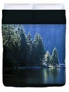 Mountain Lake In Arbersee, Germany Duvet Cover