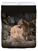 Mountain Lion On The Prowl Duvet Cover