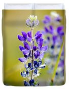 Mountain Lupine Glacier National Park Duvet Cover