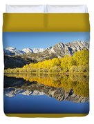 Mountain Mirrored By Lake Duvet Cover