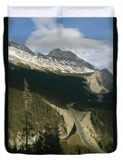 Mountain Peaks Along The Icefields Duvet Cover