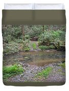 Mountain Road And Footbridge Duvet Cover